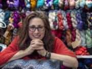 Ellen Rubin is photographed at the Luv2Knit & More in Jenkintown, Pa. Thursday, February 4, 2021.Rubin, a former immunologist, has opened a knitting shop in Jenkintown and started nonprofit to bring what she believes is the therapeutic benefit of knitting to all sorts of people.  (Jose F. Moreno/Philadelphia Inquirer/TNS) (Jose F.
