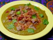 Dal gosht (lentil sauce with lamb).