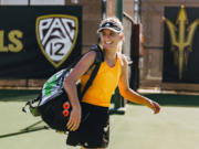 Arizona State's Sammi Hampton, a graduate of Skyview High School, has decided to use her last year of college eligibility while pursuing a master's degree.