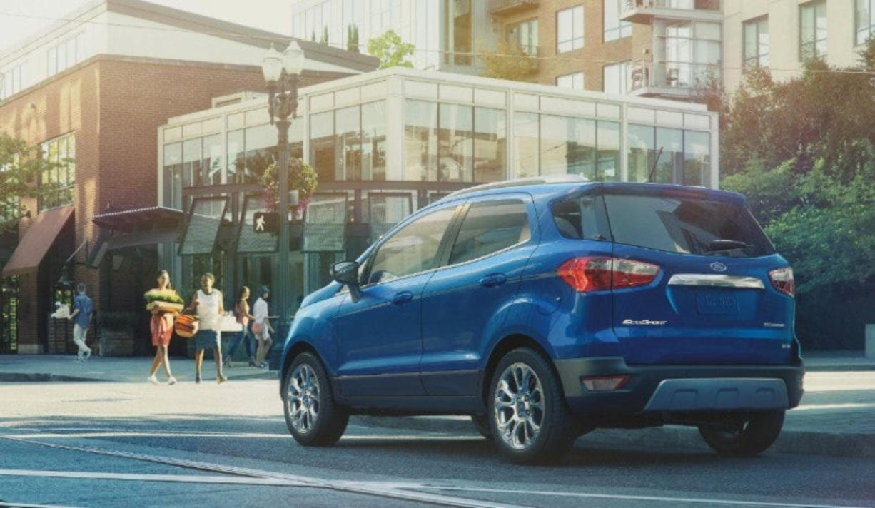 The 2020 Ford EcoSport is the smallest SUV built by Ford, and it's made in India.