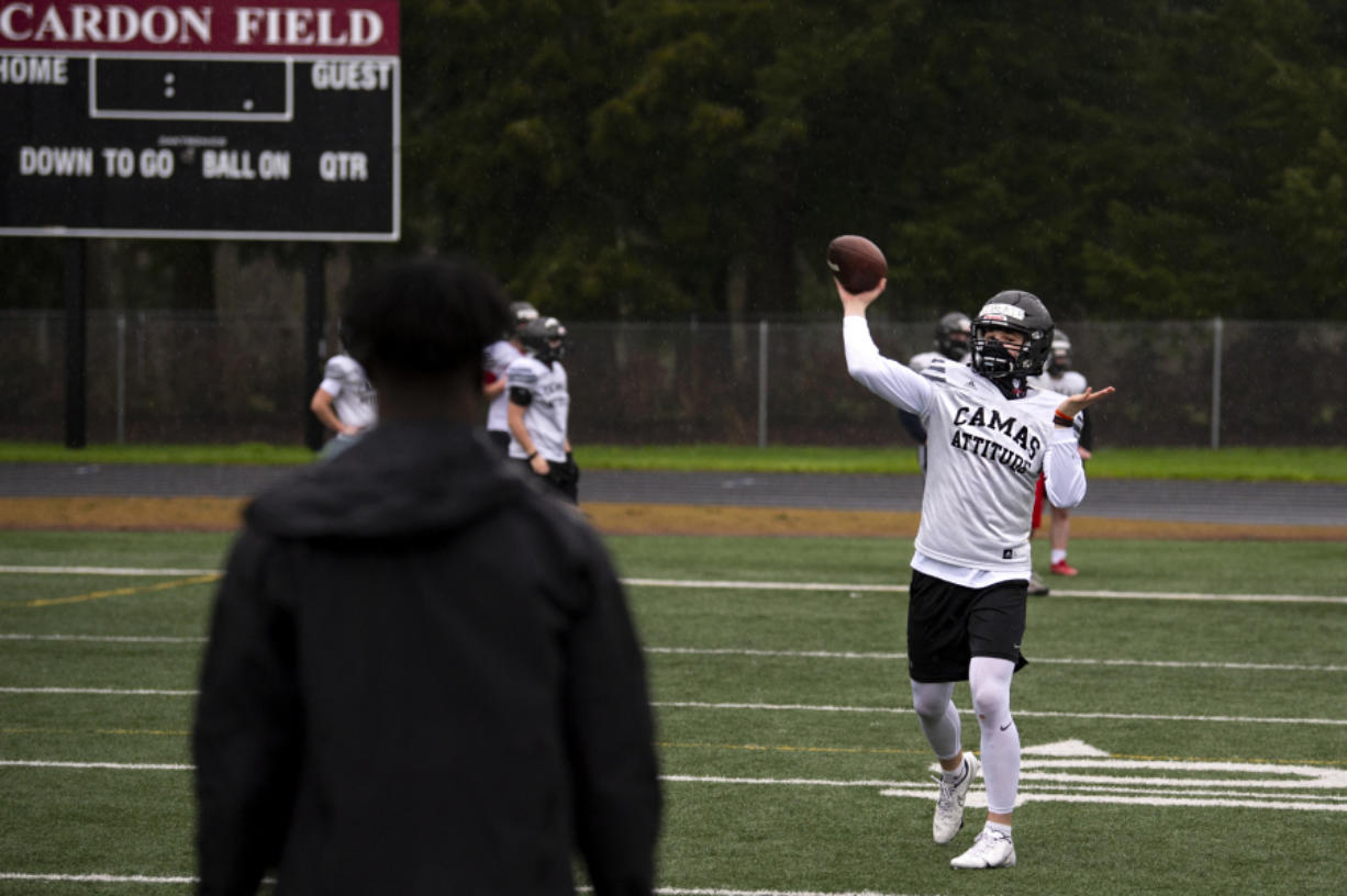 Camas quarterback Jake Blair, an Oregon State signee, is the only returning starter on offense for the reigning 4A state champion Papermakers. Camas opens a six-week 4A Greater St. Helens League season Friday against rival Union.