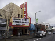 Entertainment venues such as the Kiggins Theatre in downtown Vancouver have been hit hard by the COVID-19 pandemic, forced to completely shut down for most of the past year. A new federal program promises relief grants for the performing arts industry, but applications aren't available yet.