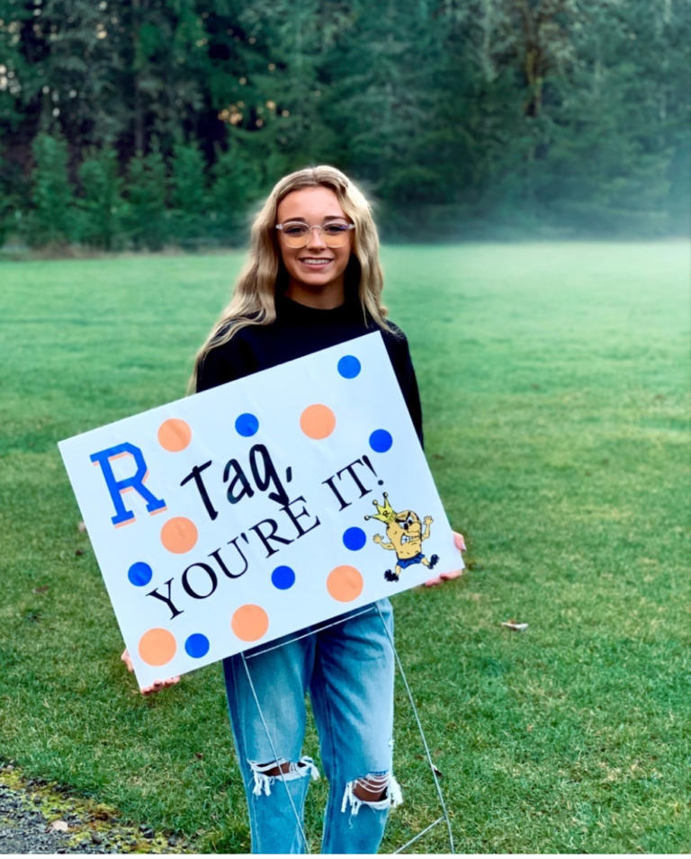 """RIDGEFIELD: Rylie Simms showed she had been """"tagged."""""""