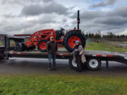 """BRUSH PRAIRIE: The Silver Buckle Youth Equestrian Center was able to replace their old 1964 Ford tractor with a new one called Hugo, named after its """"first large donor who asked to be anonymous."""""""