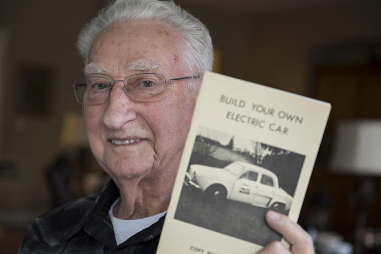 "Jack Nugent wrote a booklet called ""Build Your Own Electric Car."" (Amanda Cowan/The Columbian)"
