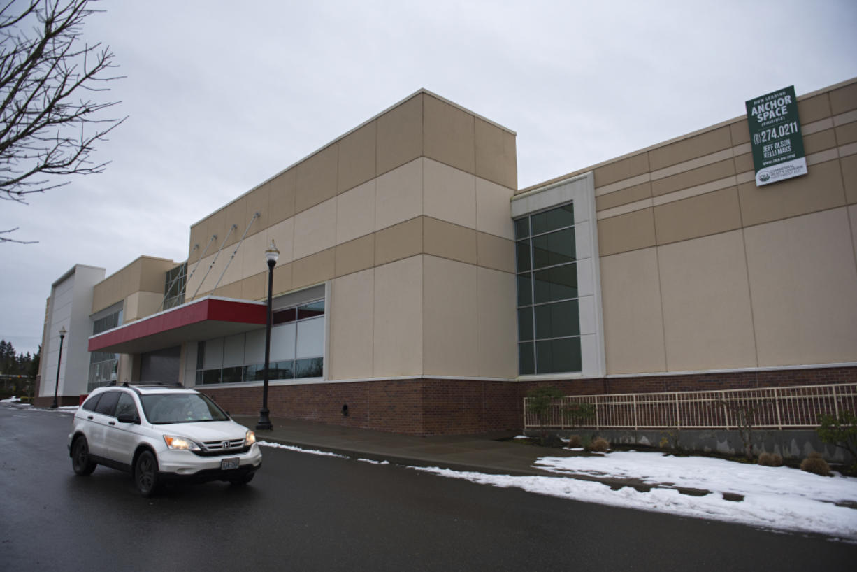 A motorist drives past the exterior of the former J.C. Penney store at Columbia Tech Center, which filed for bankruptcy last year and closed. Retail stores are the only industry in which bankruptcies are increasing. The total number of bankruptcies in Clark County has been decreasing for years, even with the economic impact of the novel coronavirus pandemic.
