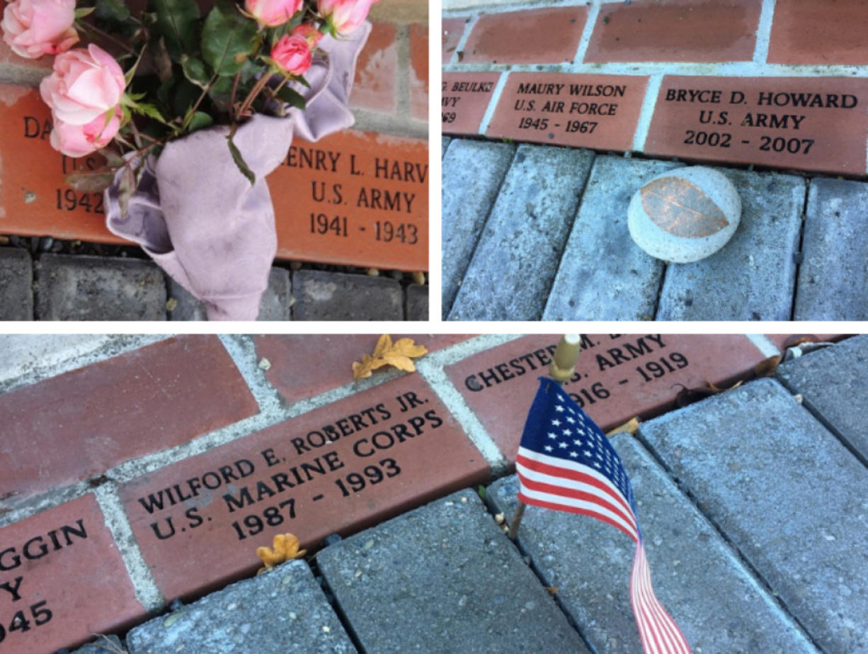 BATTLE GROUND: Bricks are available to buy to honor local veterans.