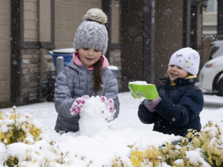 Snow piles up throughout region Friday