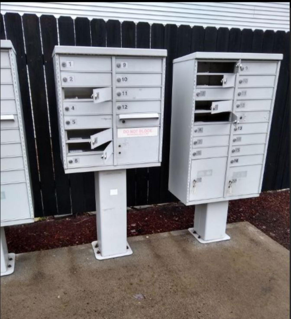 In late January, a thief or thieves busted open two cluster mailboxes using tools in a subdivision in the Heritage area, northeast of Vancouver city limits. Law enforcement officials say mail theft is up countywide.