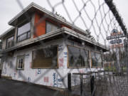 The former Igloo Restaurant building is undergoing a renovation. According to county records, it was purchased last summer by Precision Air owner Paul Vynar, who has submitted a plan to convert it to an office building.