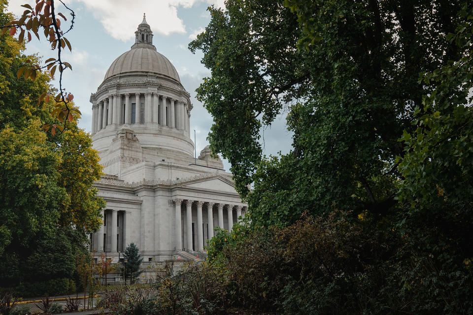 The Washington State Capitol Building, also known as the Legislative Building, photographed on Wednesday, Oct. 21, 2020, in Olympia, Wash.