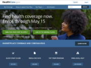 This image shows the main page of the HealthCare.gov website on Monday, Feb. 15, 2021.  Health insurance shoppers stuck in a bad plan or unable to find coverage have a new option for help. A sign-up window opened Monday for government insurance markets and runs through May 15 in most U.S. states.