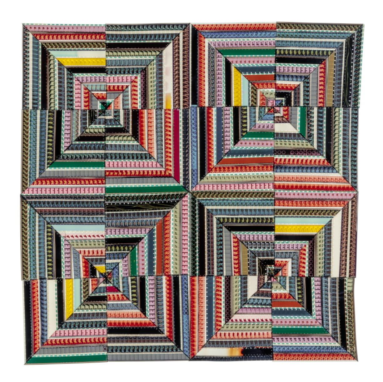 """A quilt titled """"Hands at Work III."""" (Sabrina Gschwandtner)"""