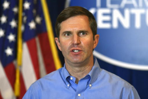 FILE - In this Wednesday, Sept. 23, 2020, file photo, Kentucky Gov. Andy Beshear addresses the media at a news conference at the Kentucky State Capitol in Frankfort, Ky. A Kentucky legislative panel has recommended that no further action be taken on impeachment petitions filed by citizens against Beshear and Attorney General Daniel Cameron. (AP Photo/Timothy D.