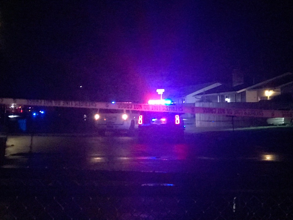 Clark County Sheriff's Deputies respond to a shooting in Hazel Dell on Thursday night. The incident started as a traffic stop.