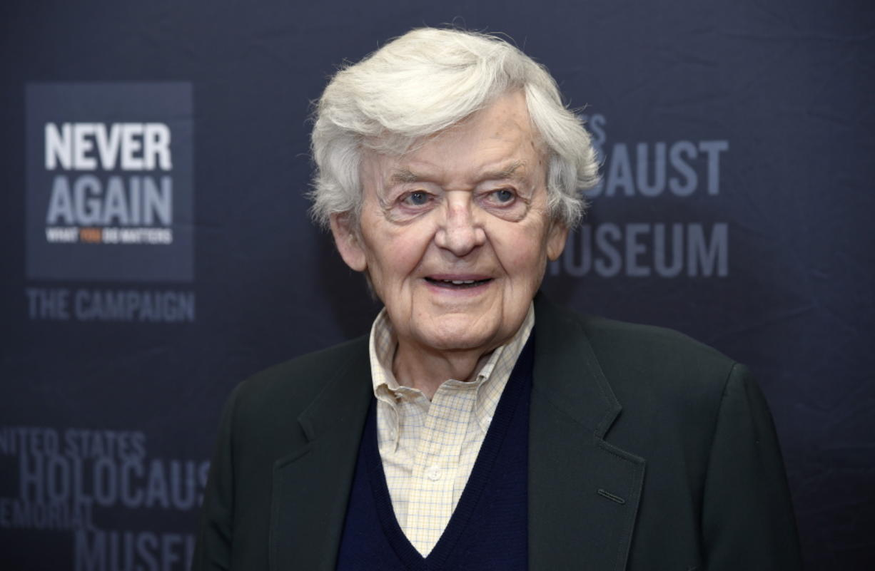 FILE - Hal Holbrook arrives at the Los Angeles Dinner: What You Do Matters in Beverly Hills, Calif. on March 16, 2015. Holbrook died on Jan. 23 in Beverly Hills, California, his representative, Steve Rohr, told The Associated Press Tuesday. He was 95.