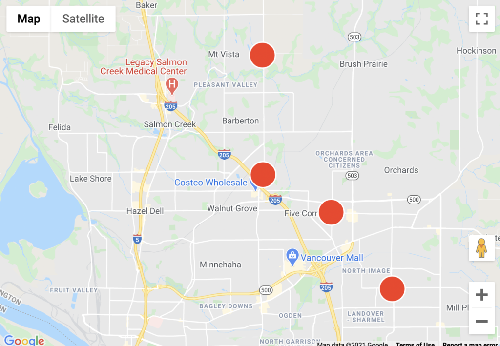 As of 10:30 a.m., four separate outages were reported to hit nearly 20,000 homes. All four active outages were unknown.
