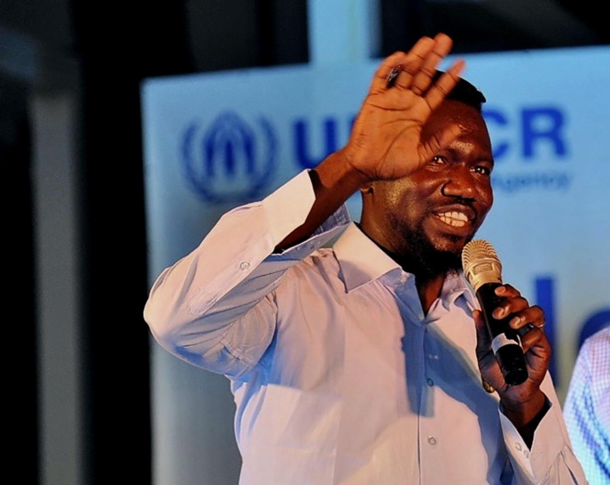 Sayid Ismael Baraka, a U.S. citizen from Atlanta, Georgia, participates in a World Refugee Day event held by the UNHCR in Tel Aviv, Israel, June 20, 2019. Baraka went to a village in West Darfur province for a family visit in December 2020. One day during his stay, the 36-year-old was killed in an attack by local militias. Baraka was among dozens of people killed in a recent spike of violence in the restive province that is threatening Sudan's fragile transitional government.