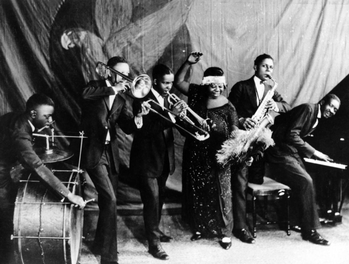 Ma Rainey with the Georgia Jazz Band in Chicago in 1923.