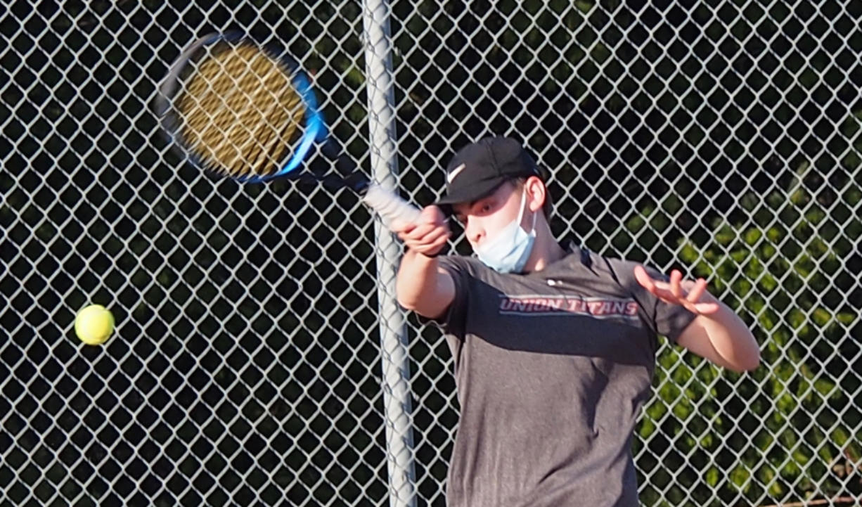 Union No. 1 singles player Jacob Flentke said the Titans have not played much outdoors this season due to the weather. But with more matches outside, they will be even tougher to beat.