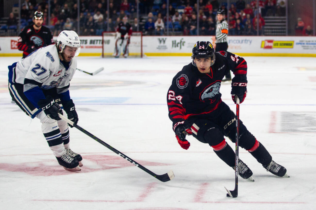 Seth Jarvis (24) was second in points in the WHL last season and led the Portland Winterhawks in goals (42), assists (56) and points (98).