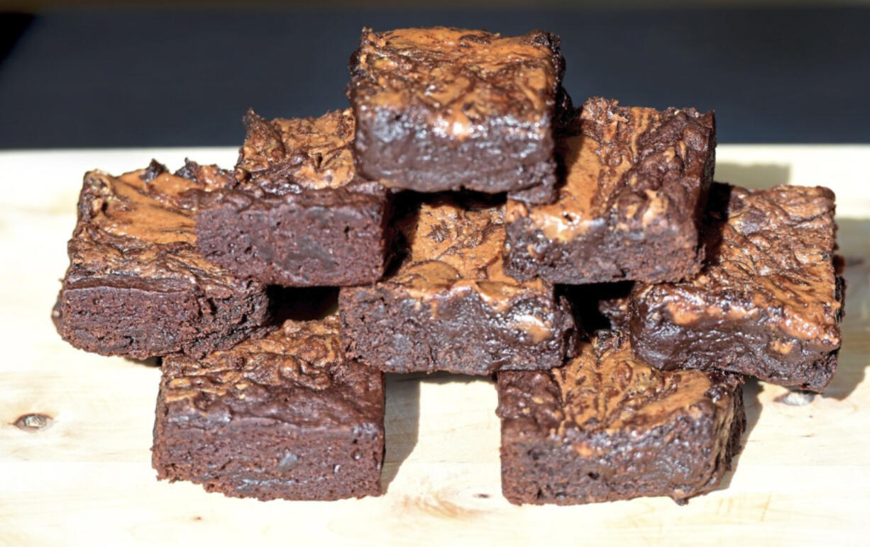 """Bananas and peanut butter make the """"king of brownies"""" super tasty without making them greasy."""