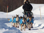 La Center High graduate Josh McNeal said when he reached the finish line of the Iditarod his team was ready to keep on running. (Photo courtesy of Susan A.