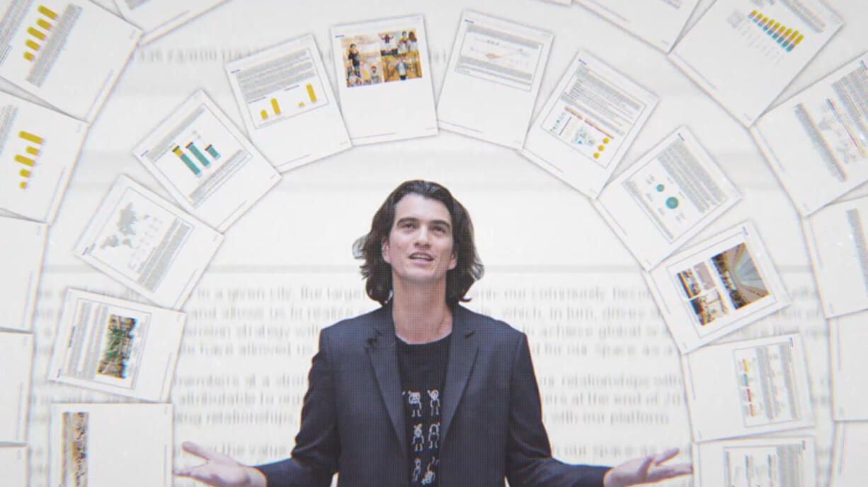 """Adam Neumann in """"WeWork: Or the Making and Breaking of a $47 Million Unicorn."""" (Hulu)"""