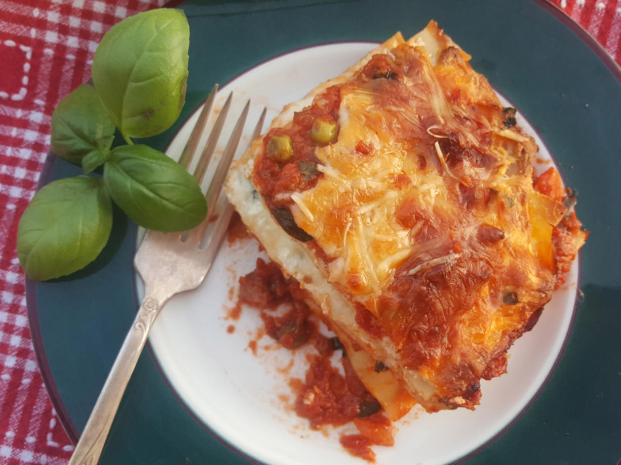 This lasagna means business, with a pound of beef, 32 ounces of ricotta and mounds of mozzarella.