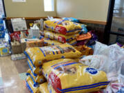 BAGLEY DOWNS: Many supplies were donated to the Humane Society for Southwest Washington when it took in dogs displaced by storms in Texas.