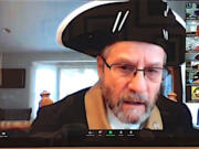 BATTLE GROUND: Sons of the American Revolution member Carl Gray gave a virtual presentation about life in the 1700s to students at Tukes Valley Elementary School.