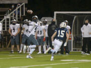 Union's Tobias Merriweather catches a pass for a touchdown against Skyview at Kiggins Bowl on Friday night, March 12, 2021.