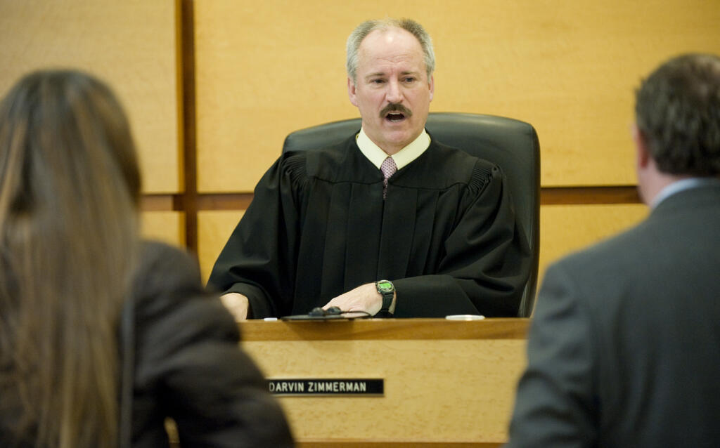Judge Darvin Zimmerman presides over Mental Health Court in 2010. Zimmerman has been a judge in Clark County for more than 20 years.