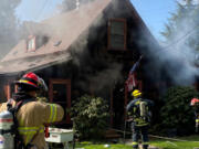 Clark County Fire District 6 crews were dispatched at 2:42 p.m. Tuesday to the 5700 block of Alki Road in West Hazel Dell for a report of a residential fire. The house that caught fire, which was originally built more than a century ago, may be salvageable, a fire spokesman said.