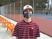 Ridgefield junior Mikey Nester, member of Spudders' boys tennis team.