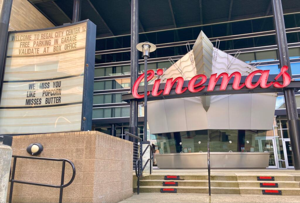 The Regal Cinemas location in downtown Vancouver has been closed for months.