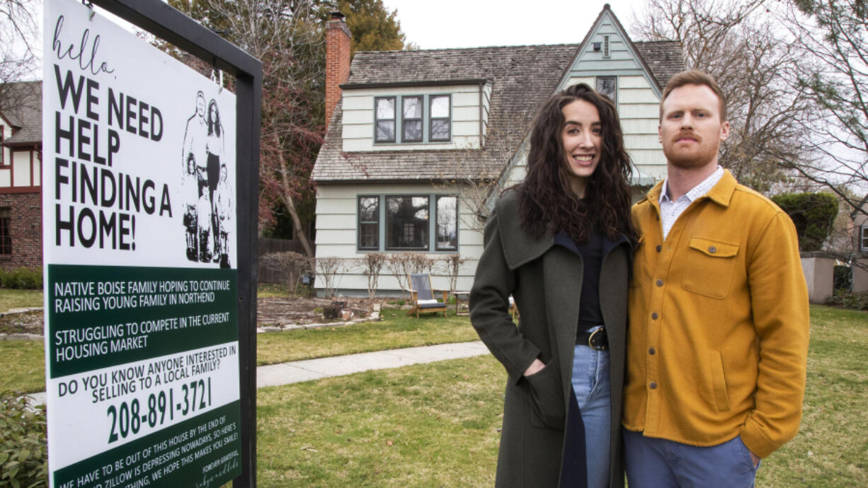 Robyn and Justin Parrish have to move out of their rented home at the end of May and want to buy their own home in Boise's North End, but can't afford to pay more than the market price.