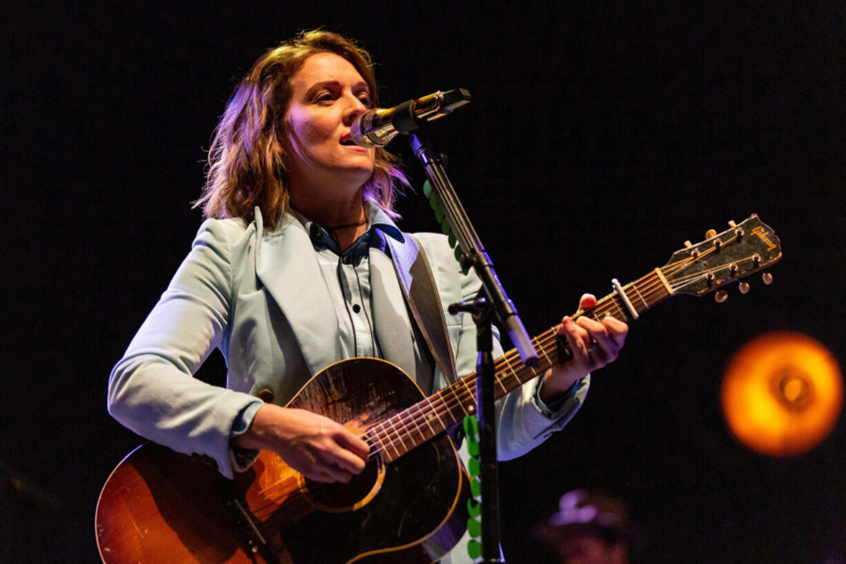 Brandi Carlile performs during the Summerfest Music Festival in 2019 in Milwaukee.