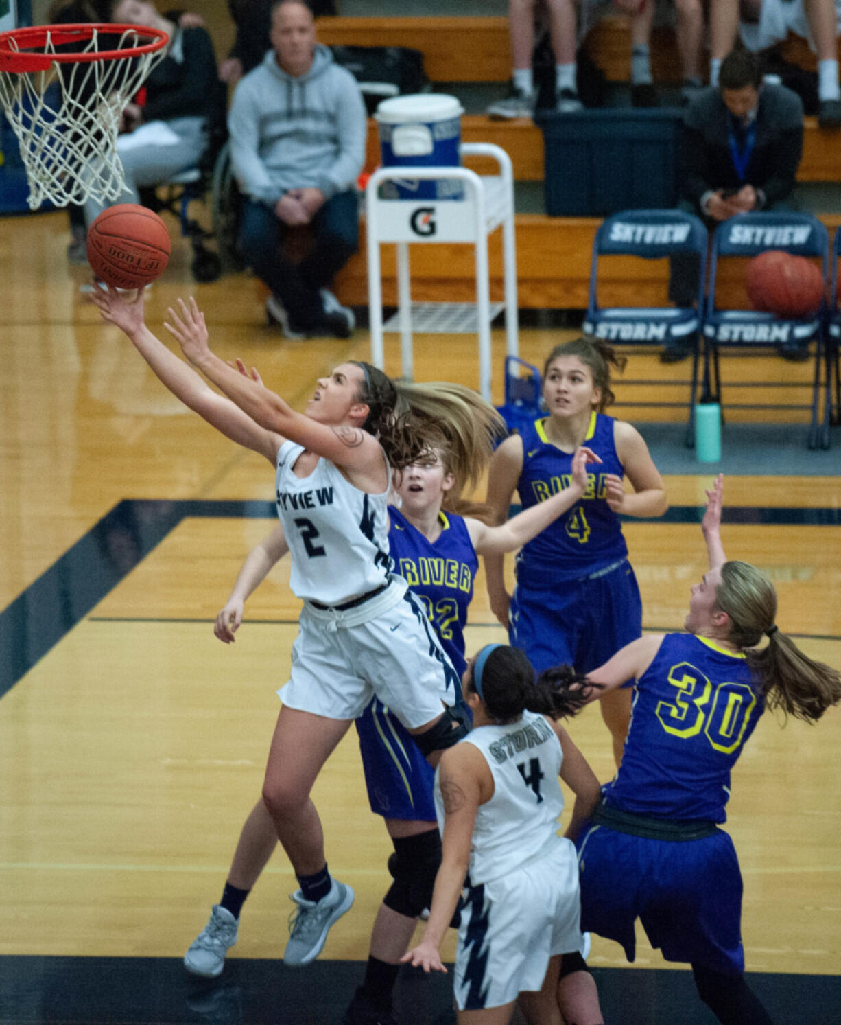 Skyview's Addie MacPherson is a standout basketball and softball player.