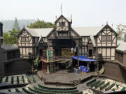 The outdoor theatre where the Oregon Shakespeare Festival in Ashland, Ore., is held is seen in 2018. The famed Shakespeare festival is tentatively planning on having in-person performances in the fall.