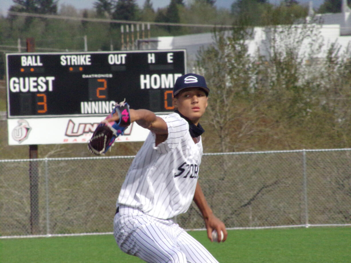 Skyview pitcher Caden Vire, an Arizona State signee, allowed just one hit in four innings of a 5-2 win over Mountain View on Monday at Union High School.