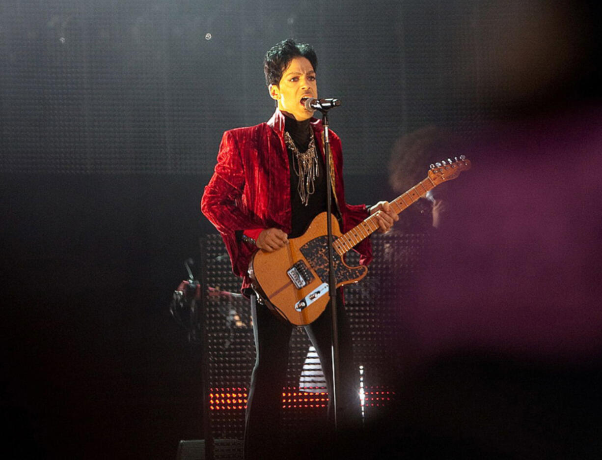 """Prince performs on the main stage at the first day of Sziget (Island) Festival on Aug. 9, 2011, on """"Hajogyar"""" (Shipyard) Island in Budapest, Hungary."""