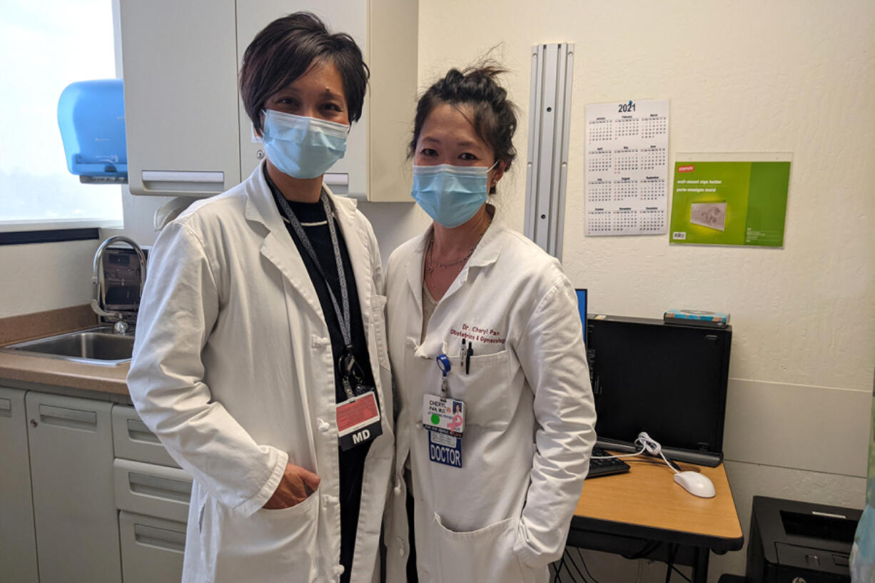 The Bascom OB-GYN urgent care clinic, which opened last year at Santa Clara Valley Medical Center in San Jose, California, was a decade-long dream of Drs. Anita Sit (left) and Cheryl Pan. They say the clinic has treated 1,300 women suffering common but potentially deadly problems, from bladder infections to ectopic pregnancies, sparing them hours of waiting in ERs.