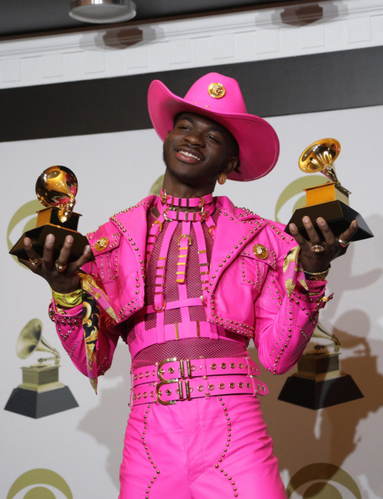 Lil Nas X backstage at the 62nd Grammy Awards at Staples Center in Los Angeles in 2020. (Myung J.