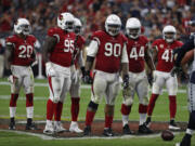 Arizona Cardinals defensive tackle Robert Nkemdiche (90) during an NFL football game against the Seattle Seahawks, Sunday, Sept. 30, 2018, in Glendale, Ariz.