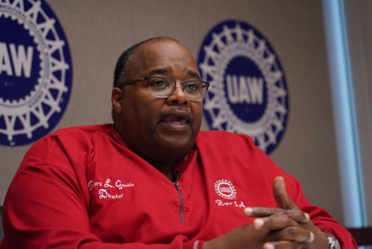 Rory Gamble, president of the UAW, is pictured here in his office in Southfield, Mich., on November 6, 2019.