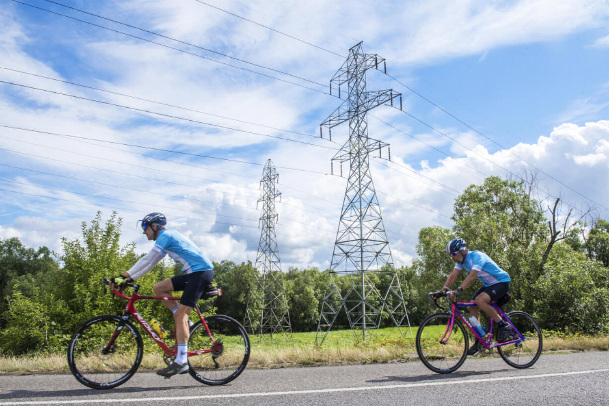 A Vancouver Bicycle Club group ride rolls along Lower River Road toward Frenchman's Bar Regional Park in summer 2019. The coronavirus pandemic put a brake on the club's activities last year, but now organizers say things are moving again.