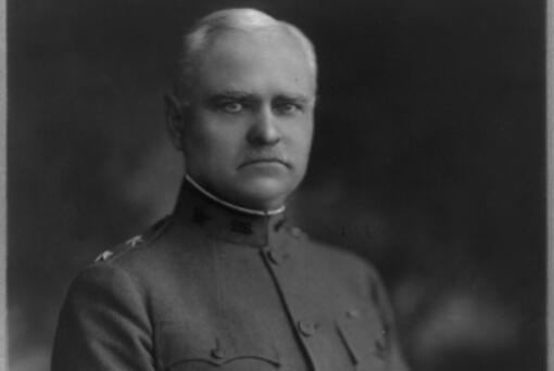 After seven years' work, George Washington Goethals finished the Panama Canal in 1914, completing a task that stymied two other engineers. He commenced his first real engineering work as a lieutenant at the Vancouver Barracks, and performed many routine duties, including planning the headquarters building, designing the new post cemetery, mapping telegraph lines and creating tables marking the distances between Department of the Columbia posts. This photo was taken before his death in 1928.
