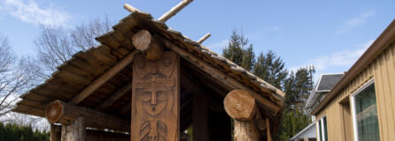 The new Gathering Place at Washuxwal pavilion at Two Rivers Heritage Museum in Washougal.