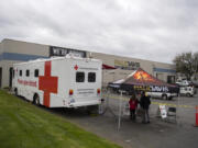 The American Red Cross teamed up with Paul Davis Restoration of Portland/Vancouver for a blood drive Wednesday in Vancouver in response to blood shortages caused by the COVID-19 pandemic. The Red Cross needs a constant supply of blood.